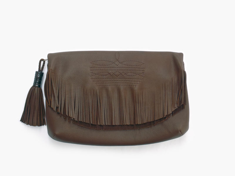 FRINGE CLUTCH BAG